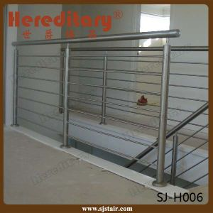 Metal Steel Plate Balustrade Rod Railing Design for Interior Stairs (SJ-H1348) pictures & photos
