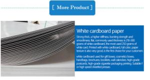 PE Coated Ivory Board for Food Package pictures & photos