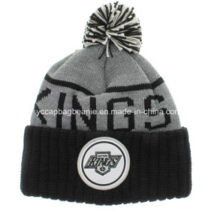 Hot Sell 100%Acrylic Pompom Knitted Hat Beanie pictures & photos
