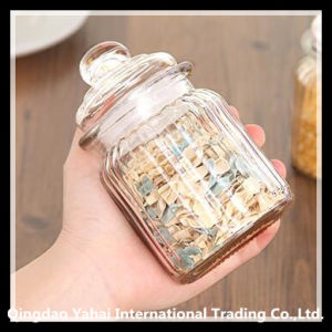 Set Glass Straight Jar / Glass Faceted Jar pictures & photos
