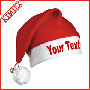 Cheap Fleece Promotion Christmas Festival Santa Hat pictures & photos