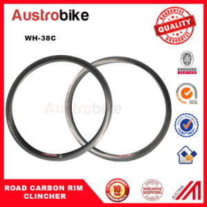 38/50/60/88mm Carbon Rim 25mm Wide Clincher/Tubular Chinese Wheels, Carbon Fiber Bicycle