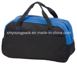 Promotional 600d Polyester Magic Tape Pocket Sports Duffle Bag pictures & photos