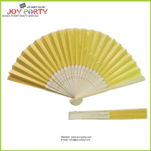 Yellow Cloth Hand Held Fan pictures & photos