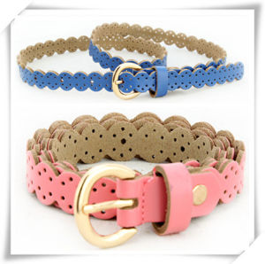 Colorful Lace PU Leather Belt for Promotional Gift (TI06004) pictures & photos