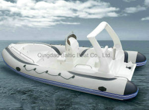 Rigid Hull Fiberglass Inflatable Boat Rib 580 Ce