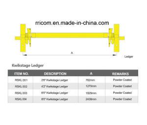Scaffold Ledger for En74 Standard Kwikstage System pictures & photos