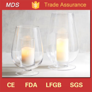 Top Quality Unique Double-Wall Glass Hurricane Candle Holder pictures & photos