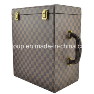 PU Leather Wine Box Wine Bottle Cover Cooler Wine Box pictures & photos