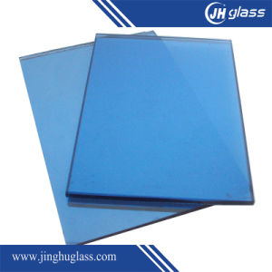 8mm Flat Dark Blue Laminated Reflective Glass for Building pictures & photos