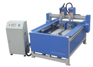 CNC Router for Woodworking with Two Rotary Device pictures & photos