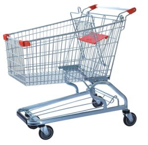 Shopping Trolley Manufacture Metal and Zinc/Galvanized/ Chrome Surface 9256 pictures & photos
