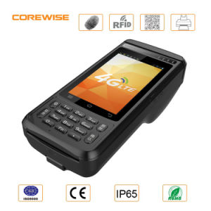 Handheld Mobile Touch Screen POS Terminal with Printer RFID Fingerprint Barcode Scanner pictures & photos