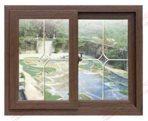 High Quality Woodgrain PVC Sliding Window (BHP-SW06) pictures & photos