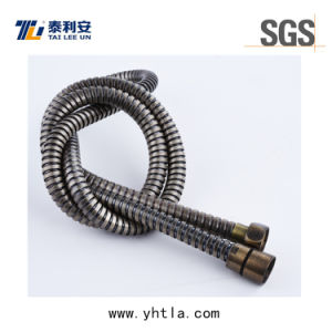 1.5m Antique Brass Plated Stainless Steel Flexible Extension Shower Hose (L1010-S)