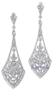 Jewellery-Synthetic Diamond Sterling Silver Earrings pictures & photos