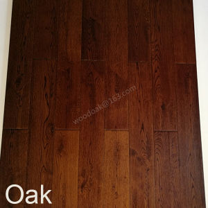Wood Flooring /White Oak with Black Walnut Color Hardwood Flooring