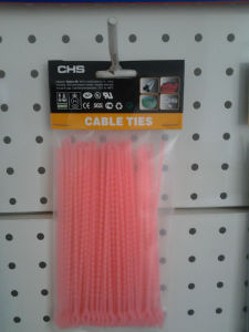 Knot Ties Pink Nylon Cable Straps Releasable Type pictures & photos