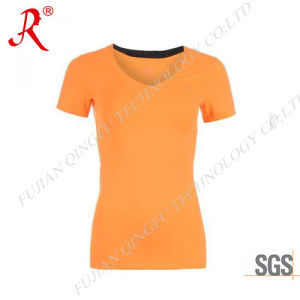 Popular and Suitable Custom Fit Sport T-Shirt for Women (QF-S179) pictures & photos