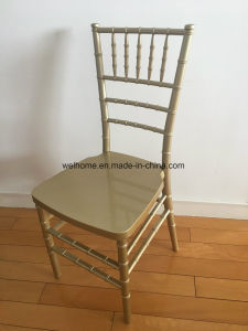 One Piece Chiavari Chair, Gold Color, Plastic Material pictures & photos