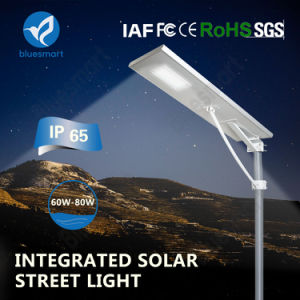 Bluesmart 80W High Lumen Solar Street Lamp with Lithium Battery pictures & photos