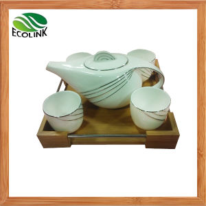Ceramic Tea Set Drink Set with Bamboo Tray pictures & photos