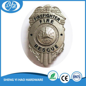 3D Metal Police Badge with Safety Pin pictures & photos