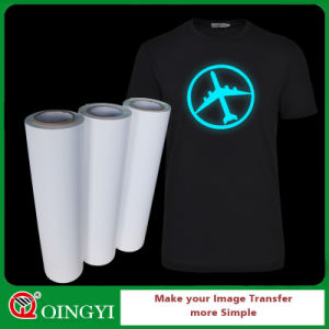 Qingyi Wholesale Best Quality Glow in Dark Heat Transfer Vinyl for Sport Wear pictures & photos