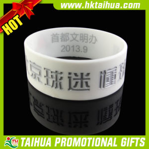 Customized Silicone Rubber Bracelet with One Inch (TH-band060) pictures & photos