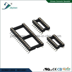 IC Socket Pitch 2.54mm Round Pin L7.43mm SMT  Type with Bar pictures & photos
