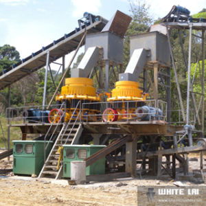 Fixed Stone Crushing Plant-Cone Crusher (30-40t/h) pictures & photos