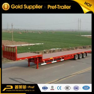Tri-Axle Gooseneck Flatbed Trailer with Front Wall
