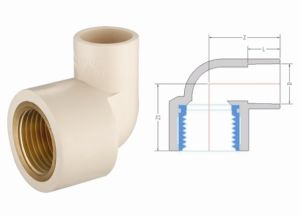 CPVC ASTM2846 Pipe Fitting 90deg Female Elbow Copper Thread (G13) pictures & photos