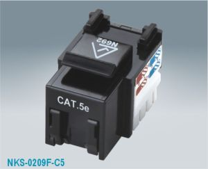 Cat5e UTP 90 Degree RJ45 Keystone Jack Shuttered (NKS-0209F-C5e)