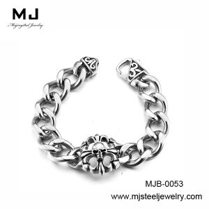 Skull Stainless Steel Polished Jewelry Bracelets Mjb-0053