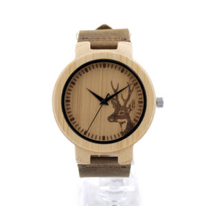 Wholesale Wood Face Support Watches for Promotion Gift pictures & photos