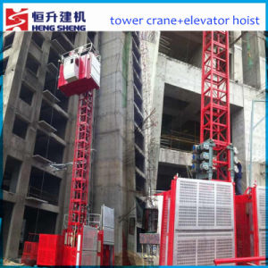 Construction Hoist with Double Cages for Sale by Hsjj pictures & photos