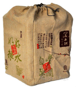 Jute Drawstring Wine Bag (hbjw-17) pictures & photos