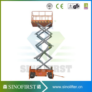 12m 14m Aerial Electric Mobile Small Hydraulic Scissor Lift Platform pictures & photos