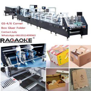Paper Box Folder Gluer Machine for 4/6 Corner pictures & photos