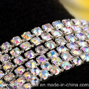 3.5mm Rhinestones Brass Chain Trim Crystal Fancy Rhinestone Cup Chain for Wedding Decor (TCS 3.5mm crystal ab) pictures & photos
