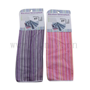 Colored Stripes Microfiber Cleaning Cloth pictures & photos