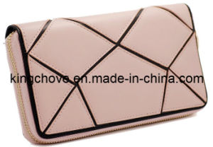 Fashion Pink Patch Leather Wallet (KCL13) pictures & photos