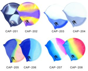 Waterproof Silicone Swimming Caps (CAP-200) pictures & photos