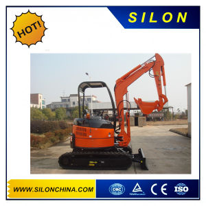 Silon 3000kg Hydraulic Mini Excavator Withe Rubber Track (NT28U) pictures & photos
