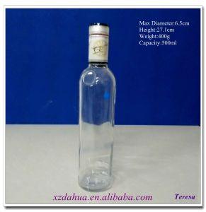 500ml Glass Red Wine Vodka Bottle pictures & photos