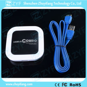 SD TF USB Combo USB 3.0 Hub (ZYF4117) pictures & photos