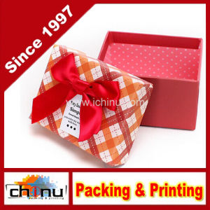 Heavy Duty Red Hat Box with Ribbon (1288) pictures & photos