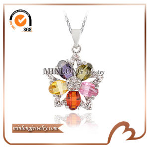 Zircon Stones Necklace Pendant (DZ1236)