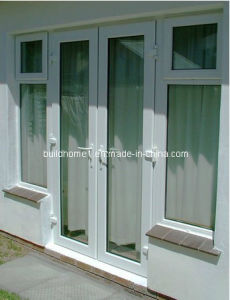 Tempered Tinted Glass French Aluminium Entrance Doors for Exterior House pictures & photos